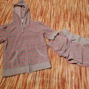 Girls 8 old navy hoodie shorts bundle beach outfit